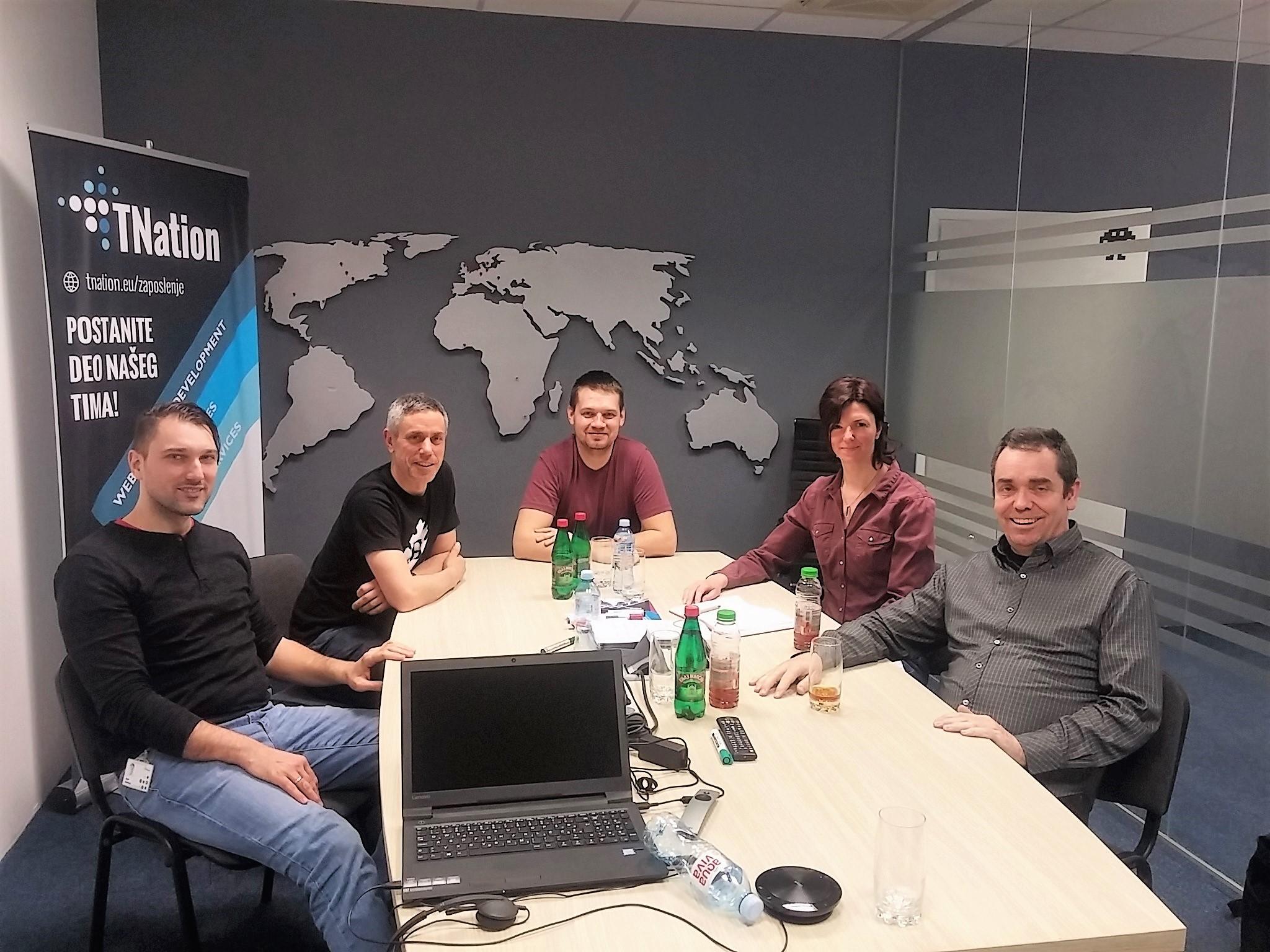 Elkom UK visit in TNation Office