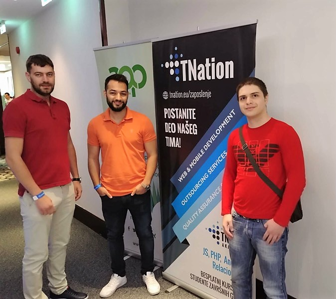 TNation employees at IT conference - ITkonekt