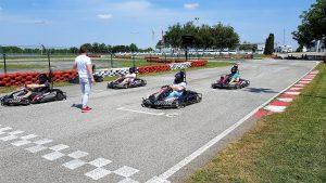 Go-kart on start position