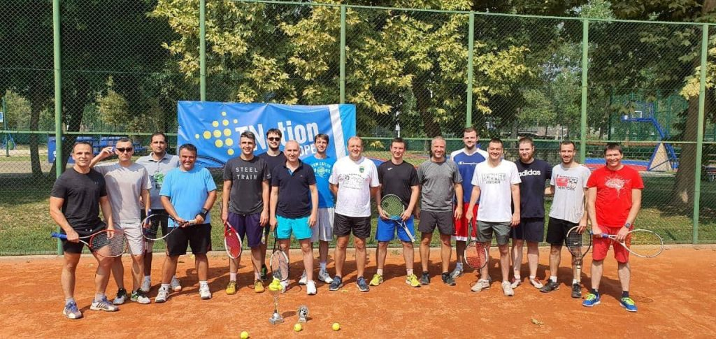TNation employees on the tennis field