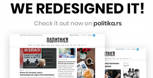 Politika.rs redesigned