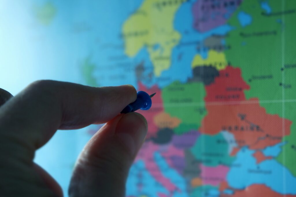 Europe map, nearshoring IT services destinations, Serbia