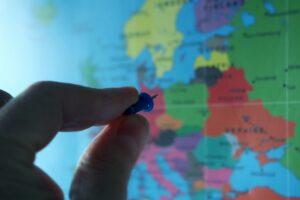Europe map, destination
