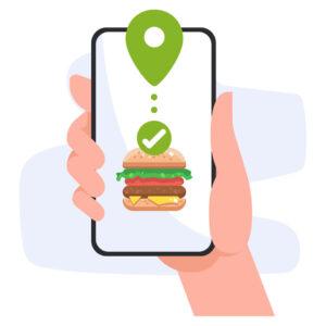 Mobile Food App graphics